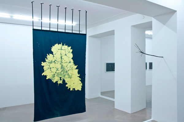 Wachsbatiken, Maße 2,40 m x 1,56 m, für »end rhymes and openings«, Judith Hopf, Grazer Kunstverein, 2012, Fotos: Johanna Glösl, Courtesy: Grazer Kunstverein